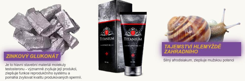 Titanium Gel pro zvětšení penisu, složení, učinki, Česká Republika