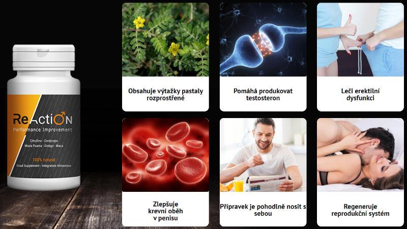 ReAction pilulky na účinnost, složení, fórum, Česká Republika